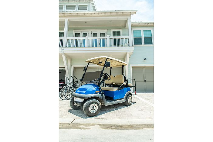 Four Seater Golf Cart and 3 Bikes!