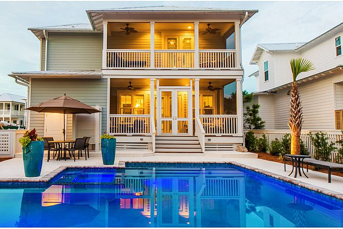 Private Pool, screened porches and seating!