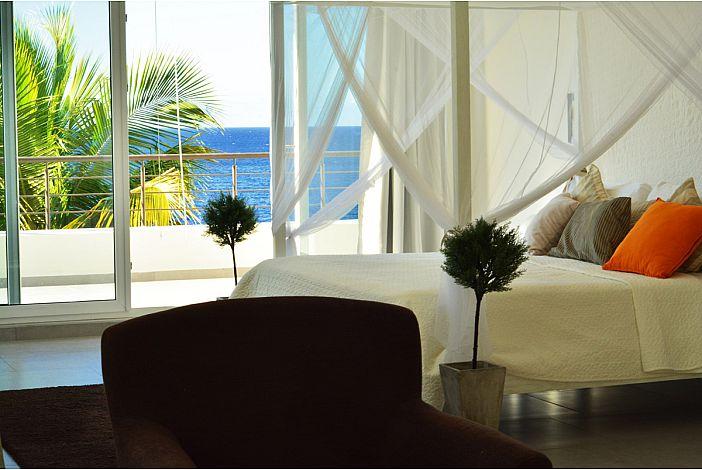 Panoramic ocean view from top floor Master bedroom