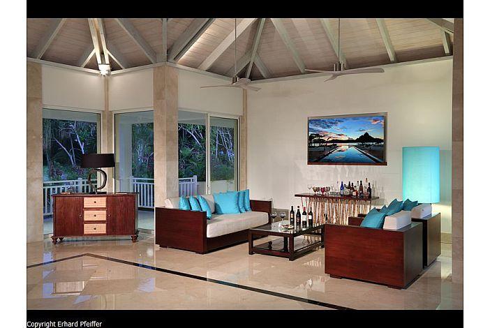 Bora Bora Luxury villa - bar