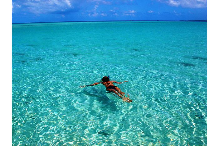 Rangiroa - Snorkelling in the lagoon/Le Lagon