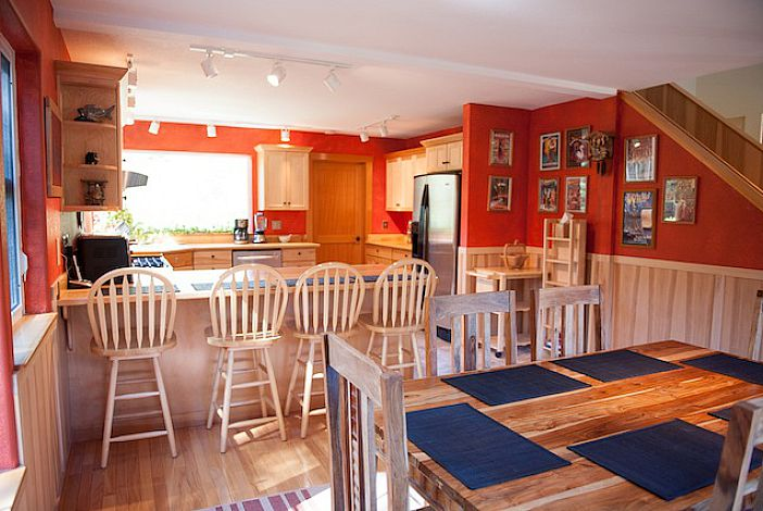 Upstairs Dining Room and Kitchen