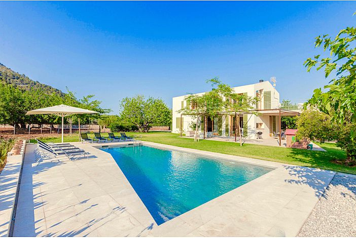 Villa view and pool