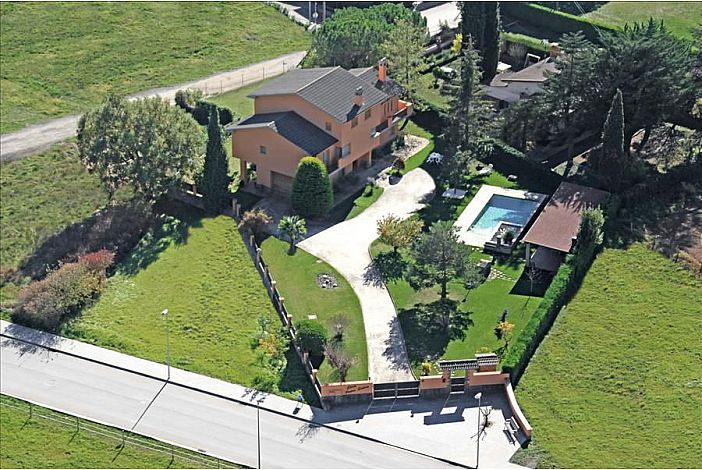 Aerial views of the house