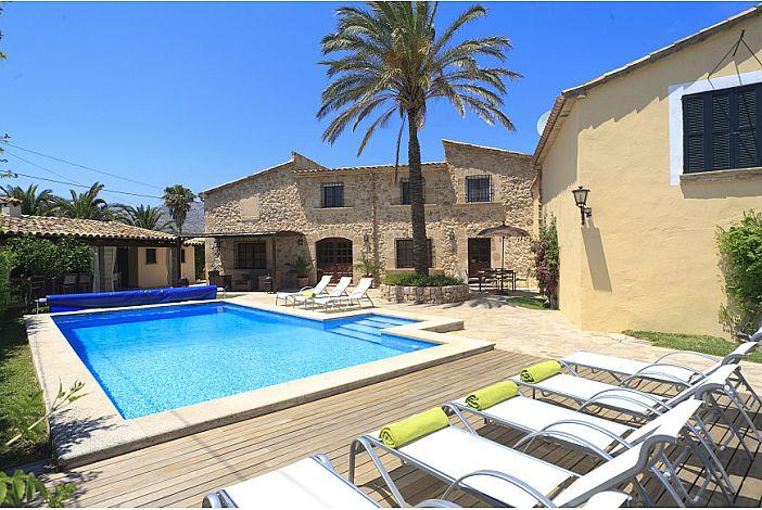 Villa view and private pool