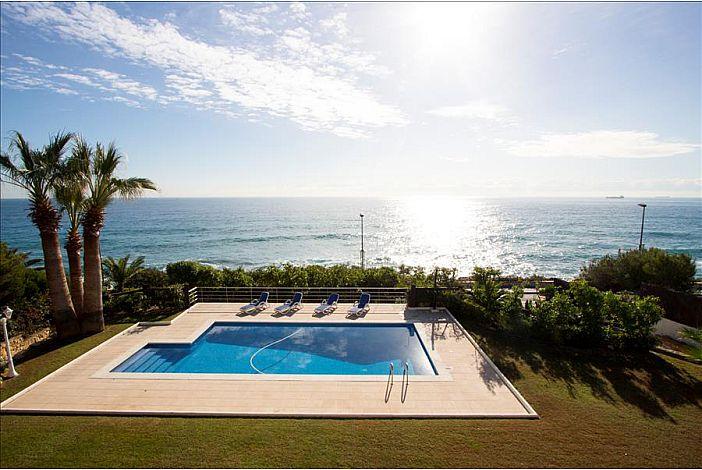 Pool next to the sea