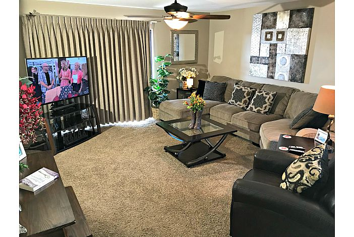 Large Open Space Living Area WIth HDTV