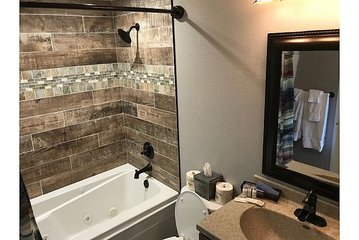 Master Bathroom With Jetted Tub and Shower
