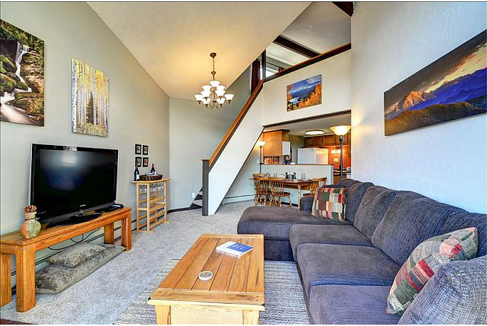 Open common area with master bedroom loft above