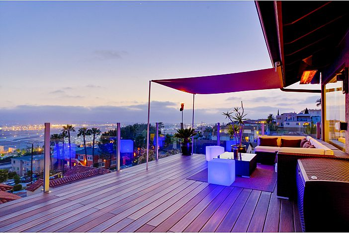 Breathtaking views from the enormous private deck