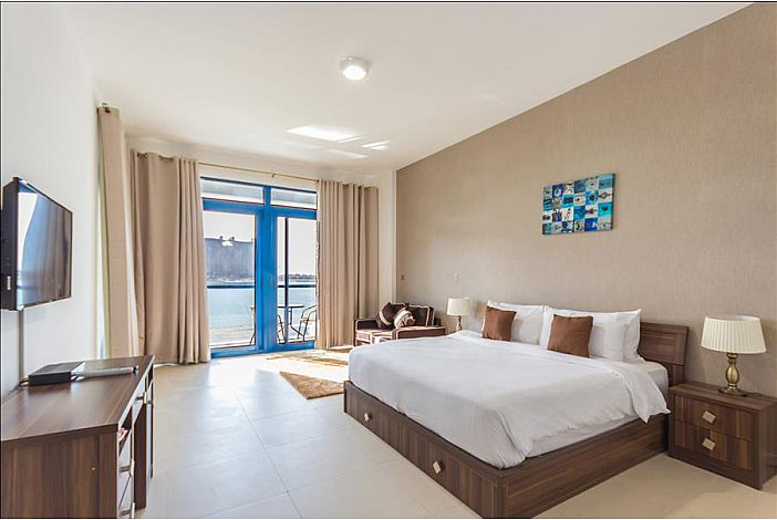 Master bedroom with terrace full sea view