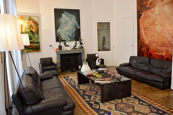The apartment offers a contemporary design