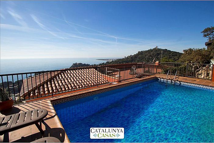 Private  secured pool with sea views.