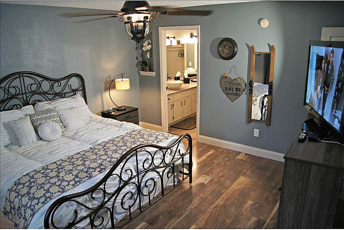 Master Bedroom With King And HDTV
